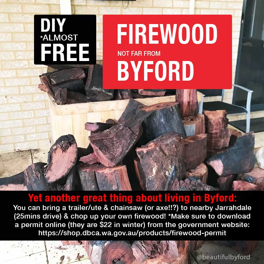 Almost free firewood not far from Byford in Jarrahdale